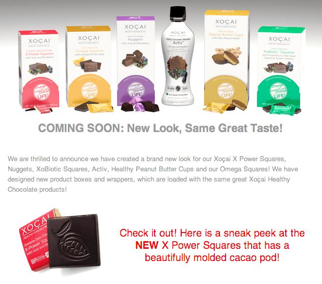 ショサイ・ヘルシーチョコレートのパッケージが一新